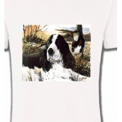 T-Shirts Chasse Cocker dans l'herbe (M)