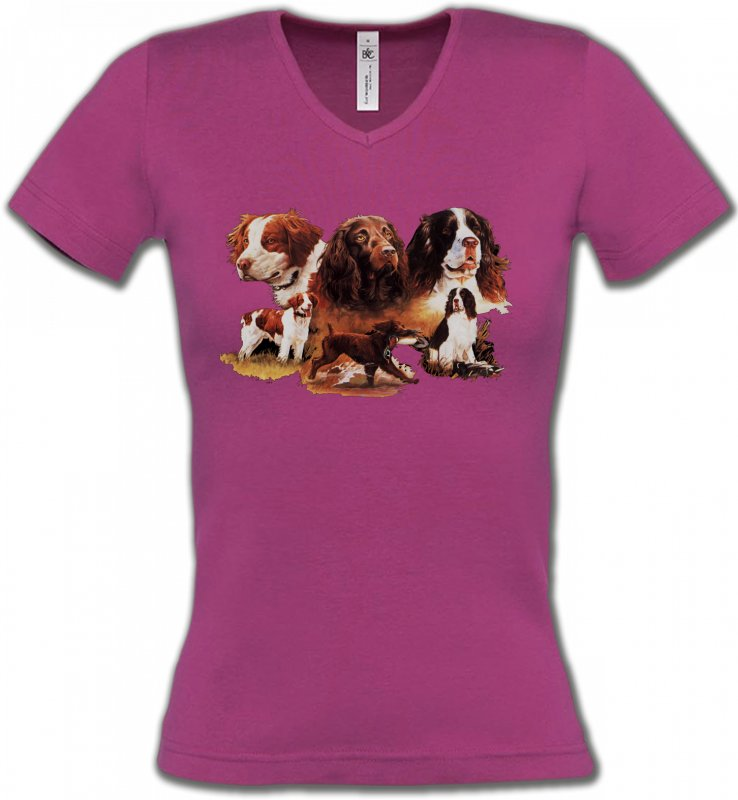 T-Shirts Col V FemmesEpagneulEpagneul (A)