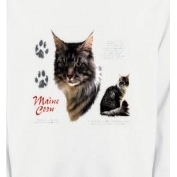 Sweatshirts Sweatshirts Unisexe Chat Maine Coon gris (M)
