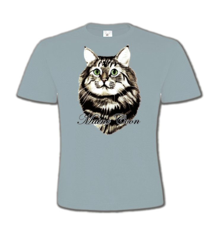 T-Shirts Col Rond EnfantsRaces de chatsChat Maine Coon (A)
