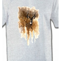 T-Shirts Chasse et Pêche Cerf en forêt