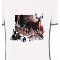 T-Shirts Chasse et Pêche Un cerf et sa biche