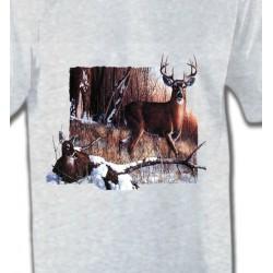 T-Shirts Chasse Un cerf et sa biche