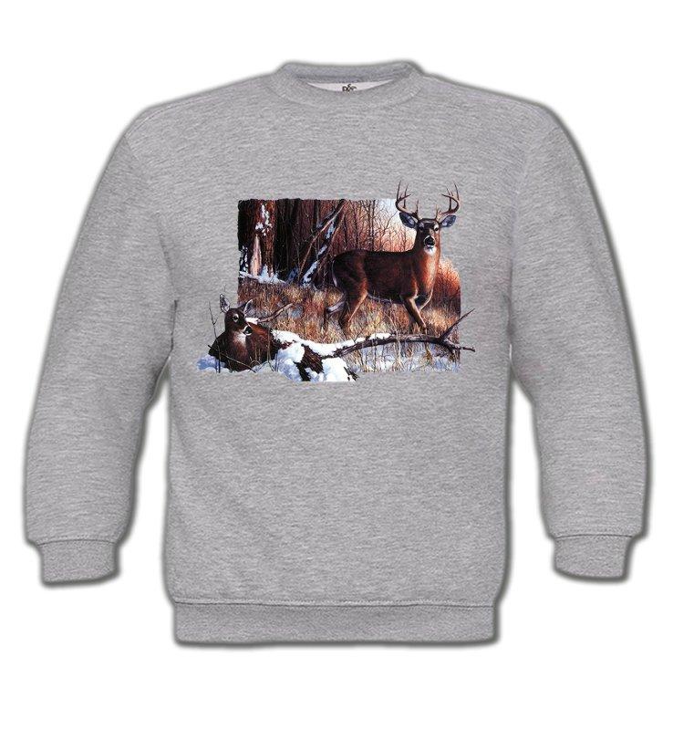 Sweatshirts EnfantsChasseUn cerf et sa biche