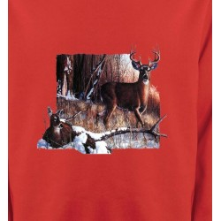 Sweatshirts Chasse et Pêche Un cerf et sa biche