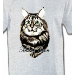 T-Shirts Races de chats Chat Maine Coon (A)