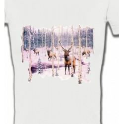 T-Shirts Chasse et Pêche Cerf neige