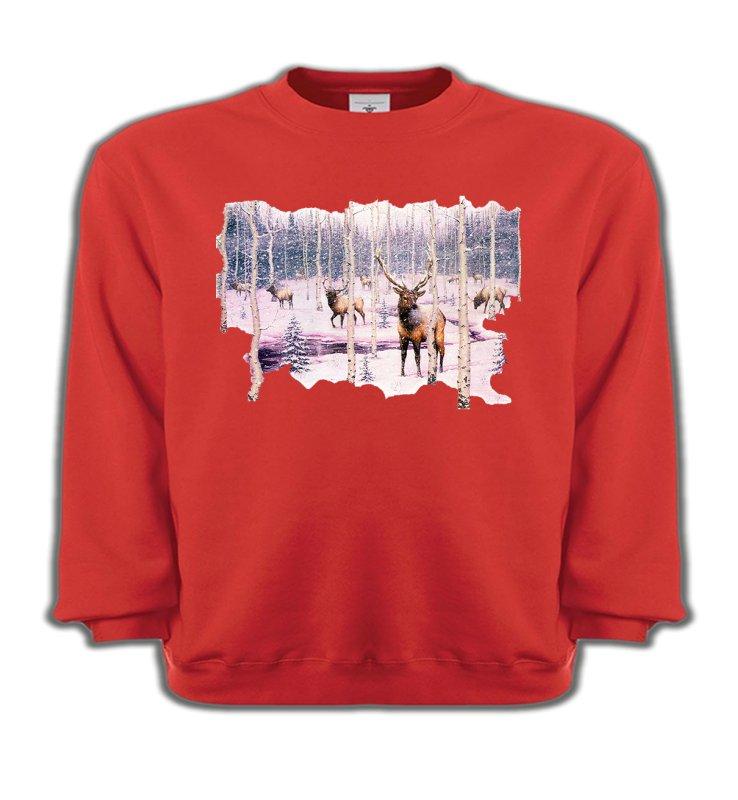 Sweatshirts EnfantsChasseCerf neige