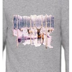 Sweatshirts Chasse et Pêche Cerf neige