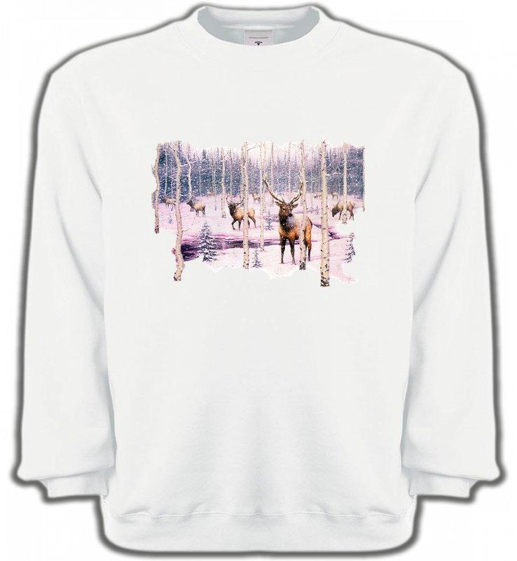 Sweatshirts UnisexeChasseCerf neige