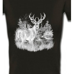 T-Shirts Chasse et Pêche Cerf (blanc)