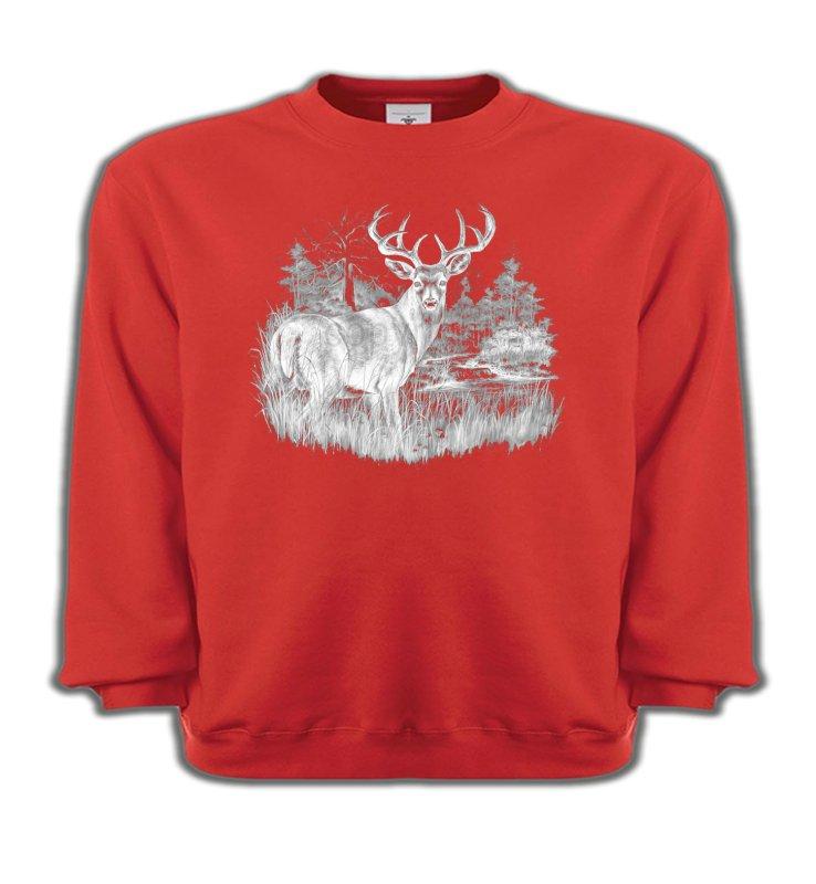 Sweatshirts EnfantsChasseCerf (blanc)