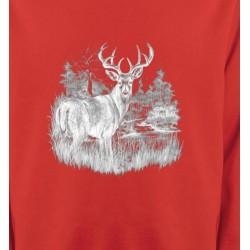 Sweatshirts Chasse et Pêche Cerf (blanc)