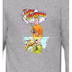 Sweatshirts Humour/amour Humour Pêcheur
