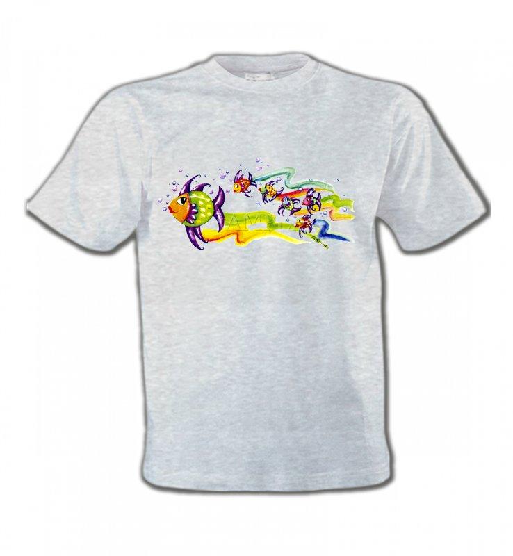 T-Shirts Col Rond EnfantsPêchePoissons