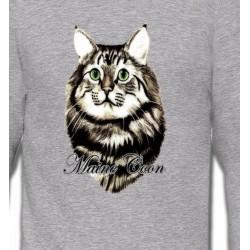 Sweatshirts Sweatshirts Enfants Chat Maine Coon (A)