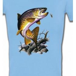 T-Shirts Chasse et Pêche Truite saumonée