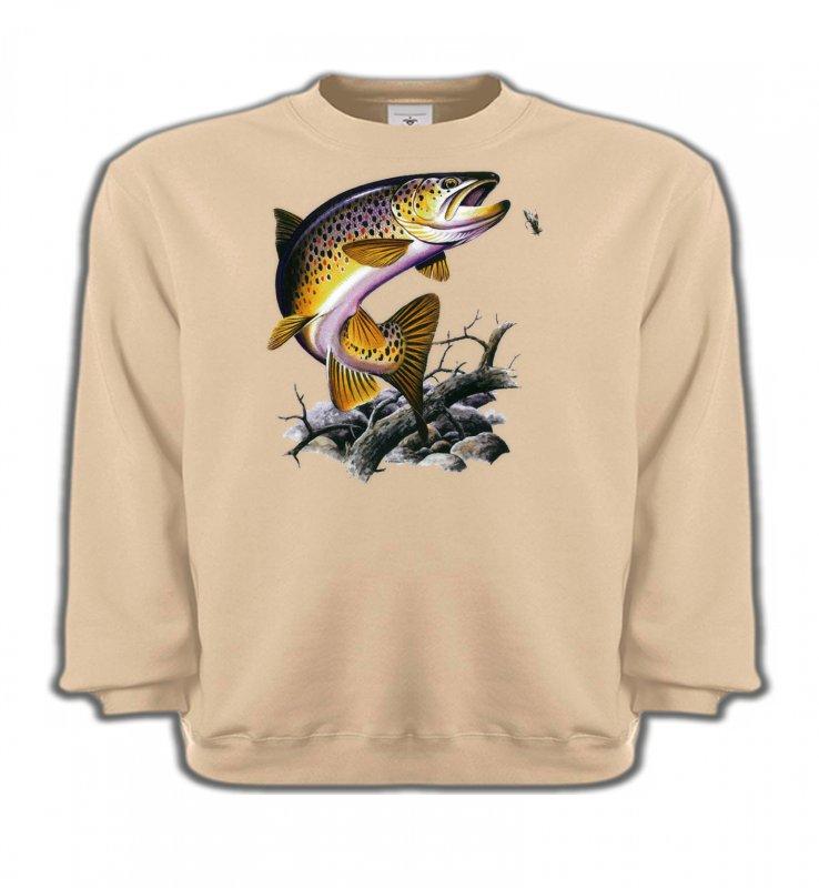 Sweatshirts EnfantsPêcheTruite saumonée