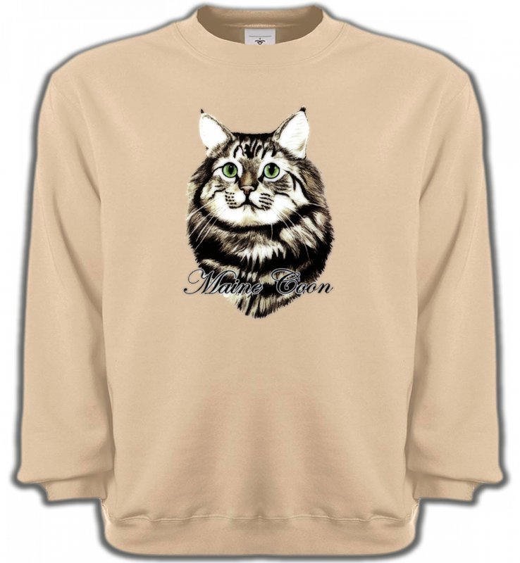 Sweatshirts UnisexeRaces de chatsChat Maine Coon (A)