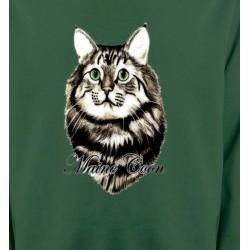 Sweatshirts Sweatshirts Unisexe Chat Maine Coon (A)