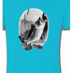 T-Shirts Chasse et Pêche Poisson mord a l'ameçcon (E)