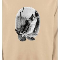 Sweatshirts Chasse et Pêche Poisson mord a l'ameçcon (E)