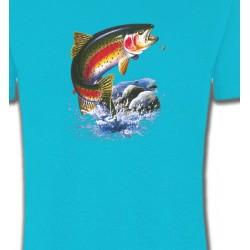 T-Shirts Chasse et Pêche Truite arc en ciel (A)