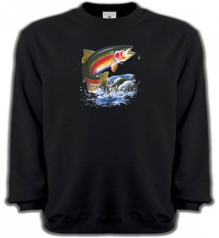 Sweatshirts UnisexePêcheTruite arc en ciel (A)