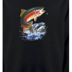 Sweatshirts Chasse et Pêche Truite arc en ciel (A)