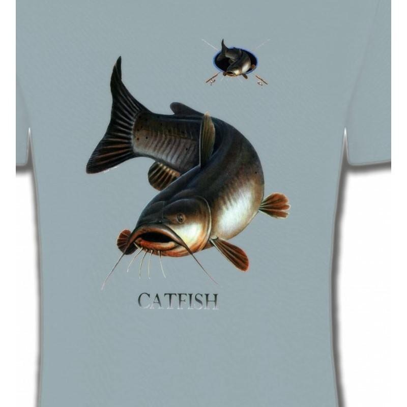 Tous les t shirts et sweat shirts au motifs de la passion de la - Peche du poisson chat au coup ...