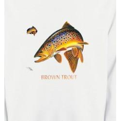 Sweatshirts Chasse et Pêche Brown Trout