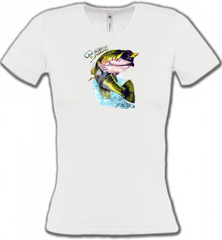 T-Shirts Col V FemmesPêcheBass