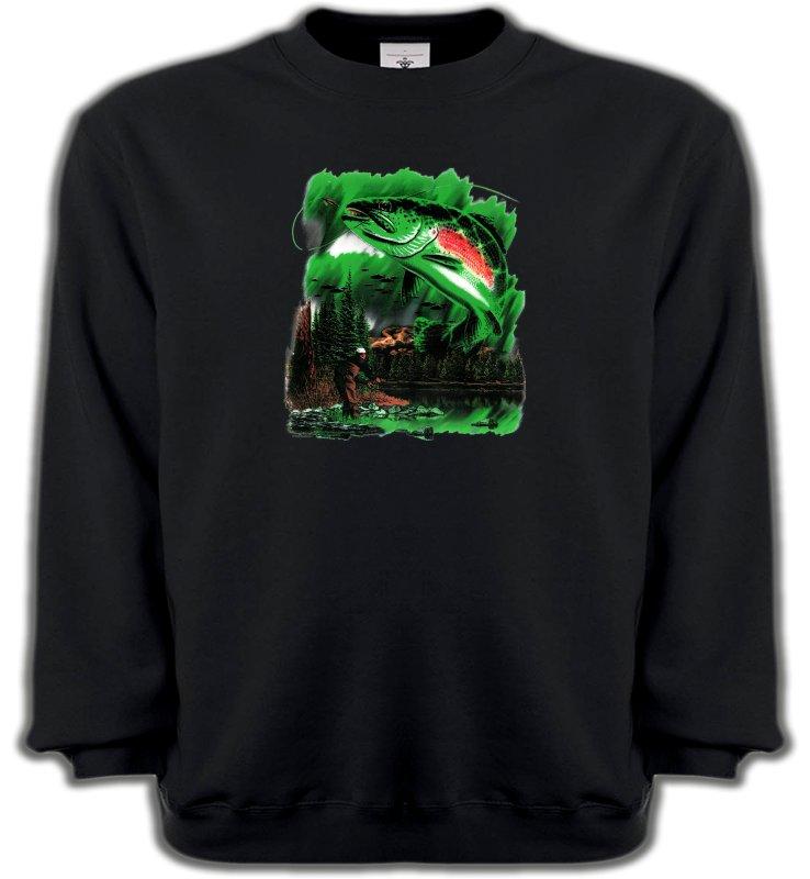 Sweatshirts UnisexePêcheTruite (D)