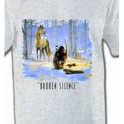 T-Shirts T-Shirts Col Rond Enfants Indien Broken Silence (D)