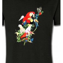 T-Shirts T-Shirts Col Rond Enfants Toutes races de Perroquets (Q)