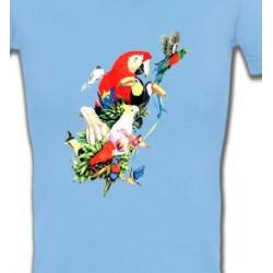 T-Shirts T-Shirts Col V Femmes Toutes races de Perroquets (Q)