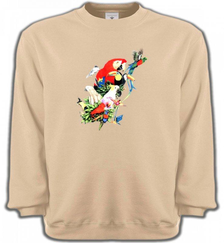 Sweatshirts Unisexeoiseaux exotiquesToutes races de Perroquets (Q)