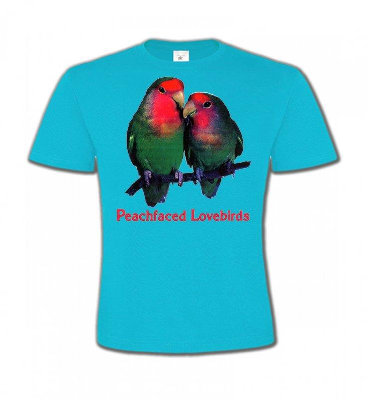 T-Shirts Col Rond Enfantsoiseaux exotiquesPerroquet Inséparable Rosegorge (P)