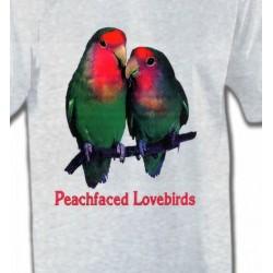 T-Shirts T-Shirts Col Rond Enfants Perroquet Inséparable Rosegorge (P)