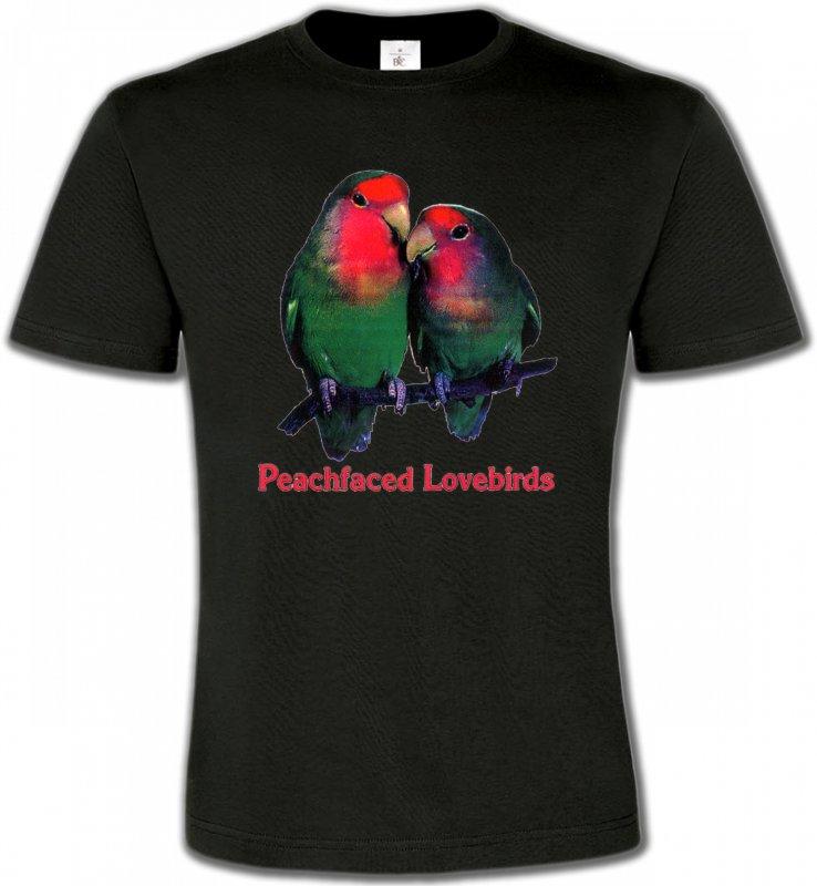 T-Shirts Col Rond Unisexeoiseaux exotiquesPerroquet Inséparable Rosegorge (P)