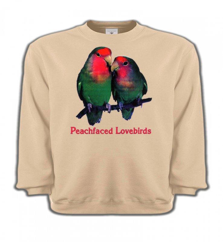 Sweatshirts Enfantsoiseaux exotiquesPerroquet Inséparable Rosegorge (P)