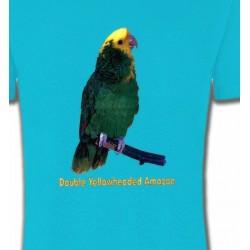 T-Shirts T-Shirts Col Rond Enfants Perroquet Amazone à double front jaune (H)