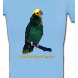 T-Shirts T-Shirts Col V Femmes Perroquet Amazone à double front jaune (H)