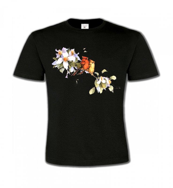 T-Shirts Col Rond EnfantsOiseaux diversOiseaux couple de moineau (M)