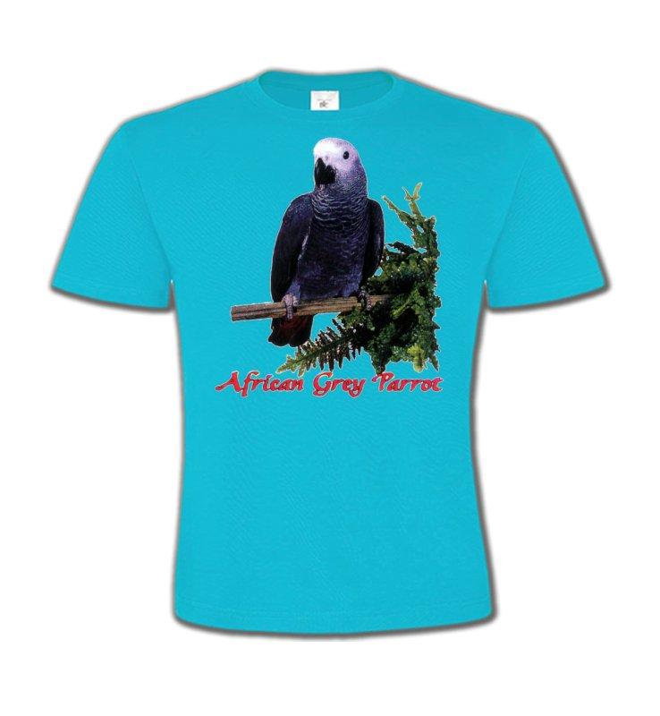 T-Shirts Col Rond Enfantsoiseaux exotiquesPerroquet Gris du Gabon (B)