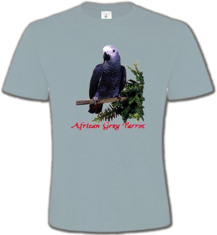 T-Shirts Col Rond Unisexeoiseaux exotiquesPerroquet Gris du Gabon (B)