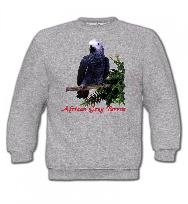 Sweatshirts Enfantsoiseaux exotiquesPerroquet Gris du Gabon (B)