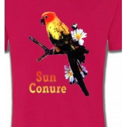 T-Shirts T-Shirts Col Rond Enfants Perroquet Conure Soleil
