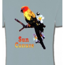 T-Shirts T-Shirts Col Rond Unisexe Perroquet Conure Soleil
