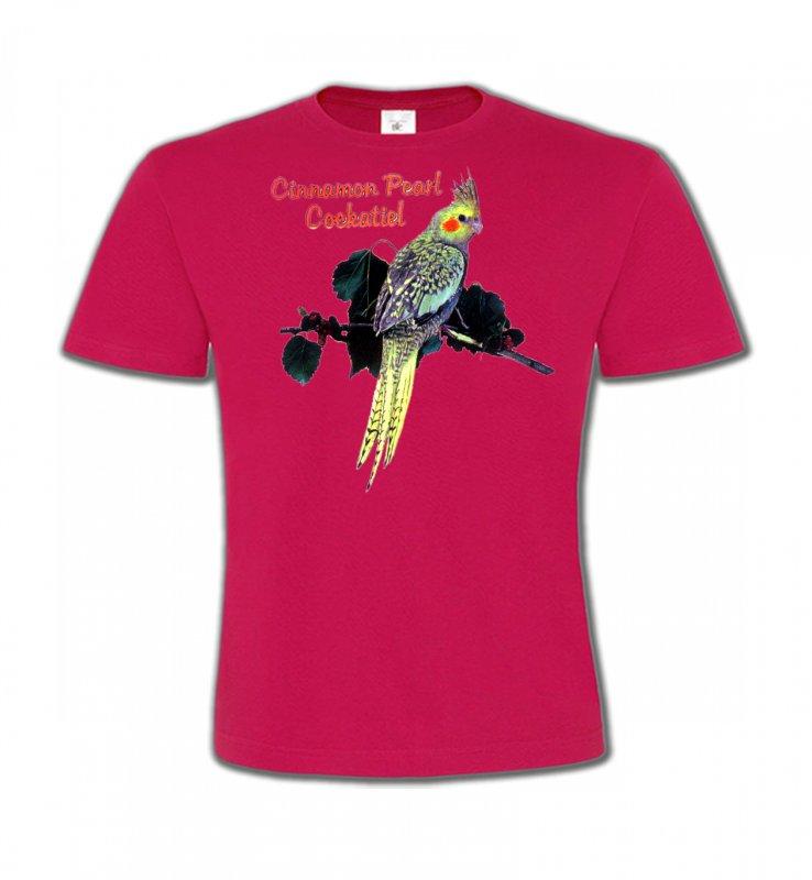T-Shirts Col Rond Enfantsoiseaux exotiquesPerroquet Cockatiel Perlé (D)